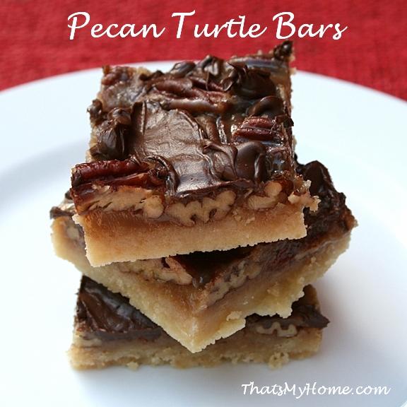 pecan turtle bars recipe