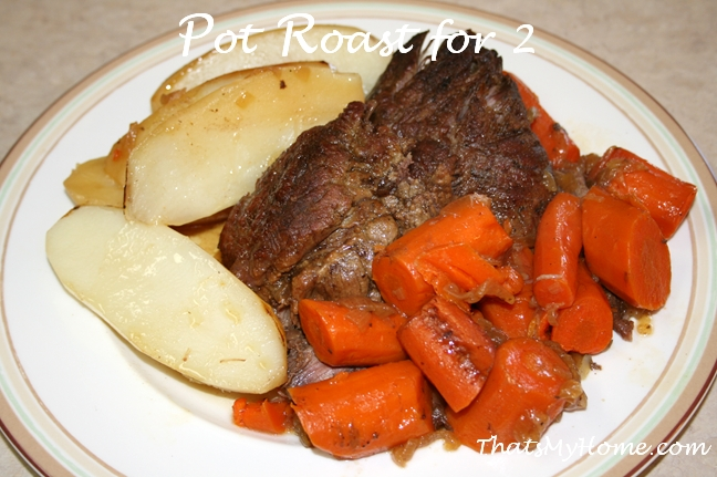 pot roast for 2 recipe