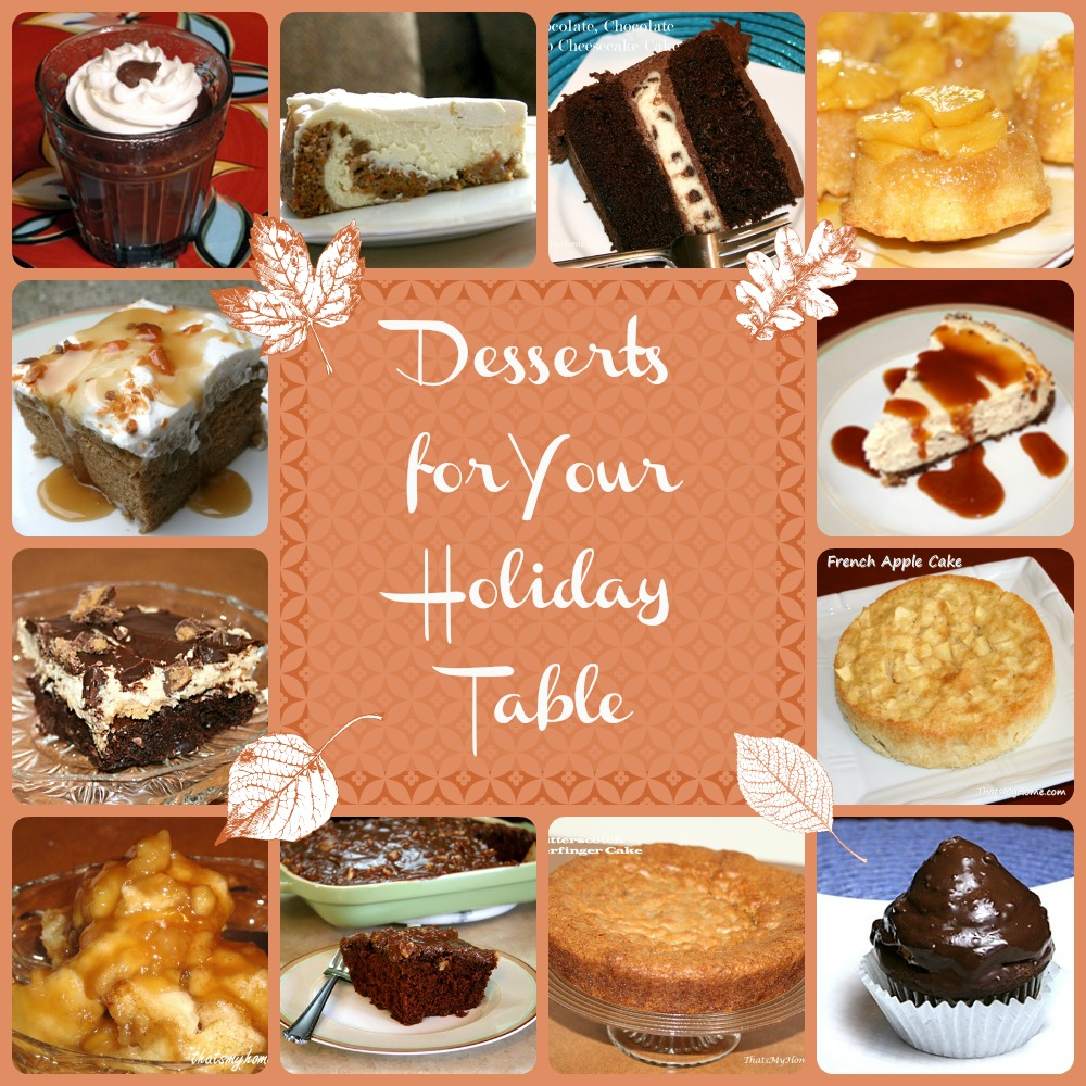 holiday dessert round up