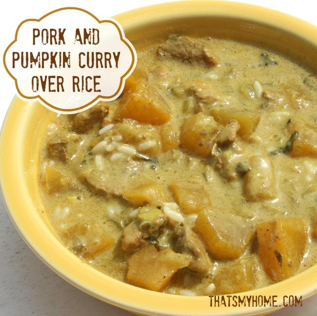 pork and pumpkin curry from recipesfoodandcooking.com