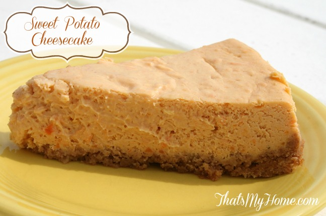 sweet potato cheesecake recipe from recipesfoodandcooking.com