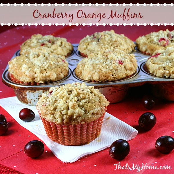 cranberry orange muffins from recipesfoodandcooking.com