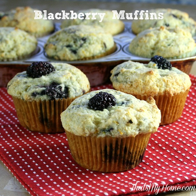Blackberry Buttermilk Muffins from Recipes, Food and Cooking