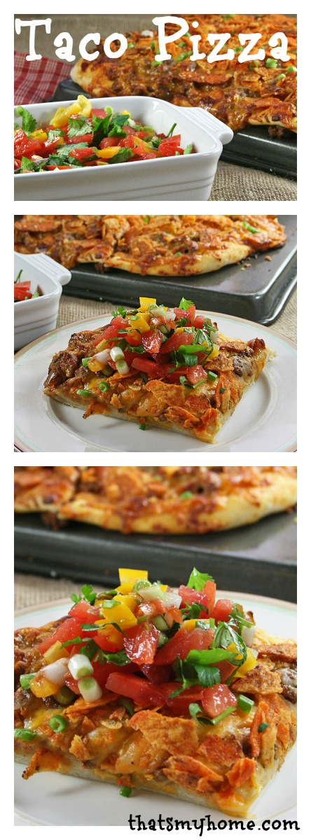 Taco Pizza - Recipes Food and Cooking