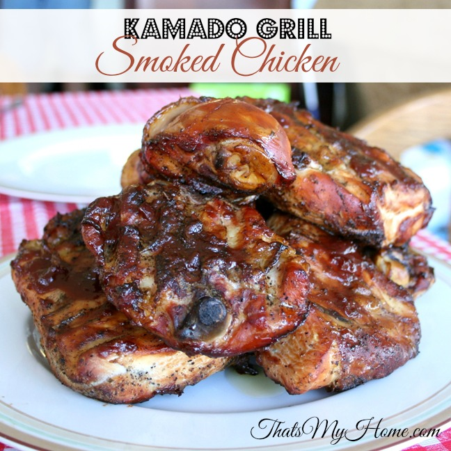 Smoked Chicken on a Kamado Grill