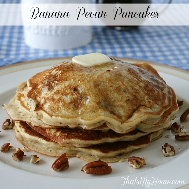 Banana Pecan Pancakes from Recipes, Food and Cooking