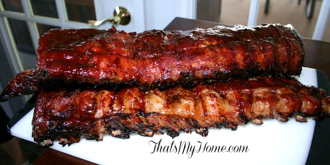 Kamado Grill Barbecue Ribs