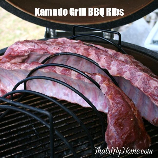 Kamado Grill Barbecue Ribs