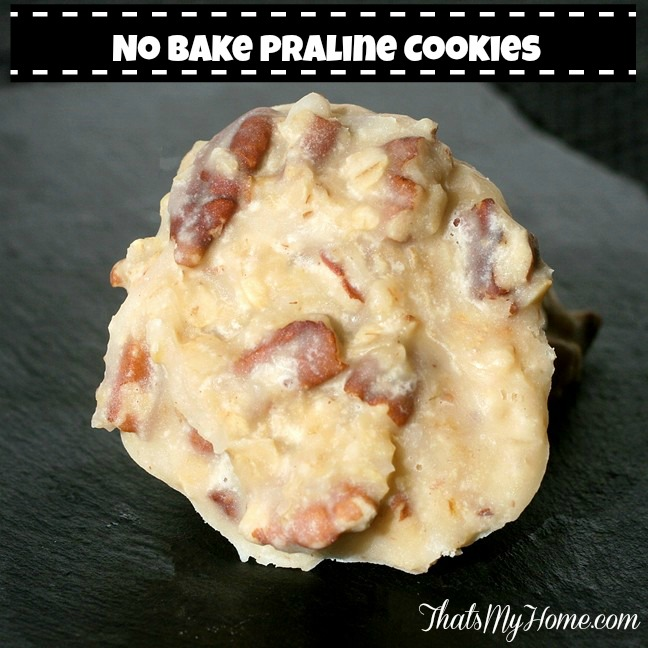 No Bake Praline Cookies from Recipes, Food and Cooking