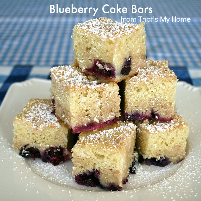 Blueberry Cake Bars