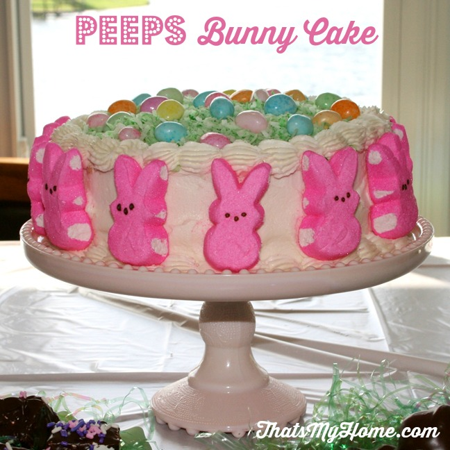 Peeps Bunny Cake from Recipes, Food and Cooking