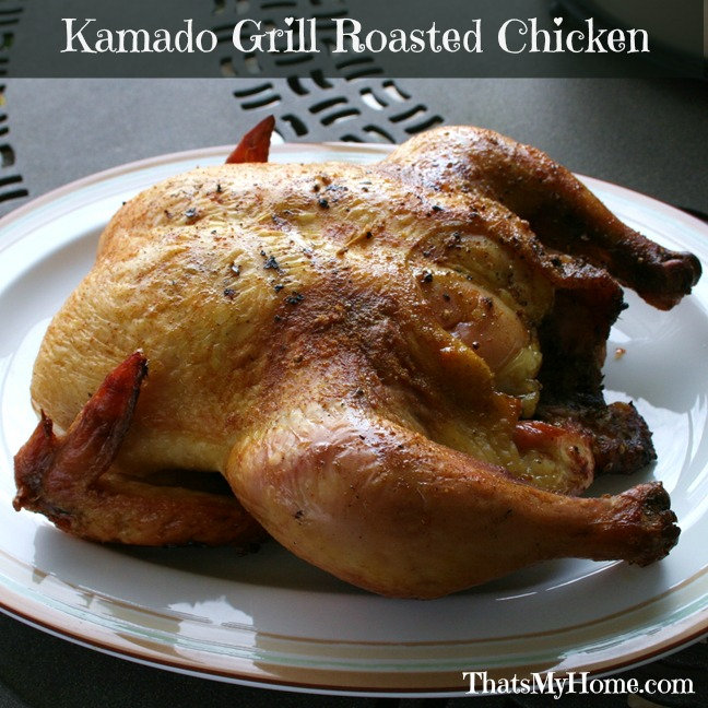 Kamado Grill Roasted Chicken from Recipes, Food and Cooking # ...