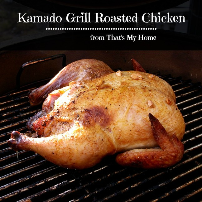 Kamado Grill Roasted Chicken from Recipes, Food and Cooking
