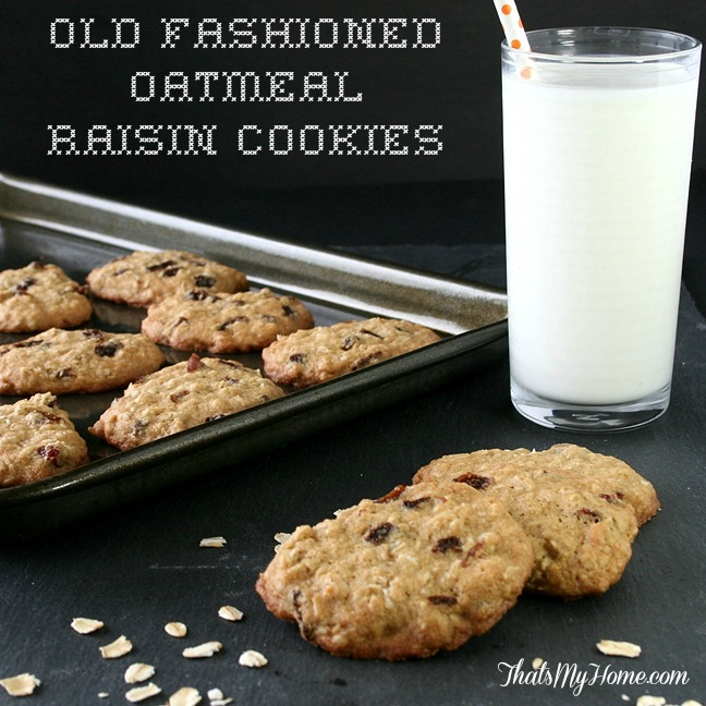 OOld Fashioned Oatmeal Raisin Cookies from Recipes, Food and Cooking