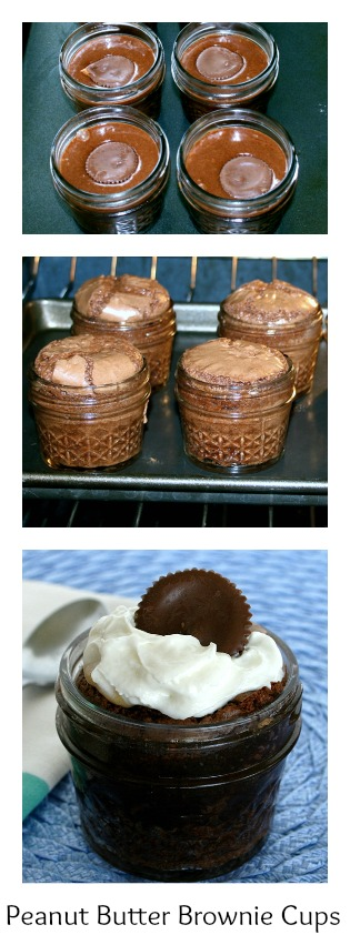 Peanut Butter Brownie Cups from Recipes Food and Cooking
