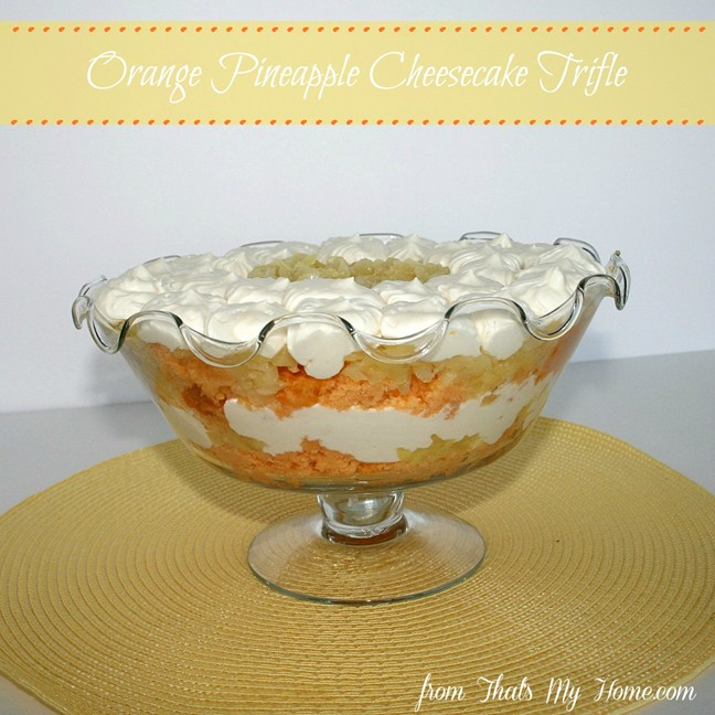 Orange Pineapple Trifle from Recipes, Food and Cooking