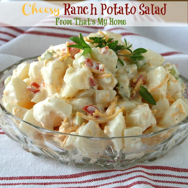 Cheesy Ranch Potato Salad from That's My Home