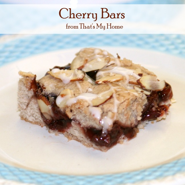Cherry Bars from Recipes, Food and Cooking