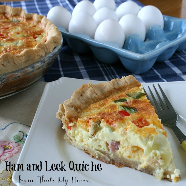 Ham and Leek Quiche from That's My Home