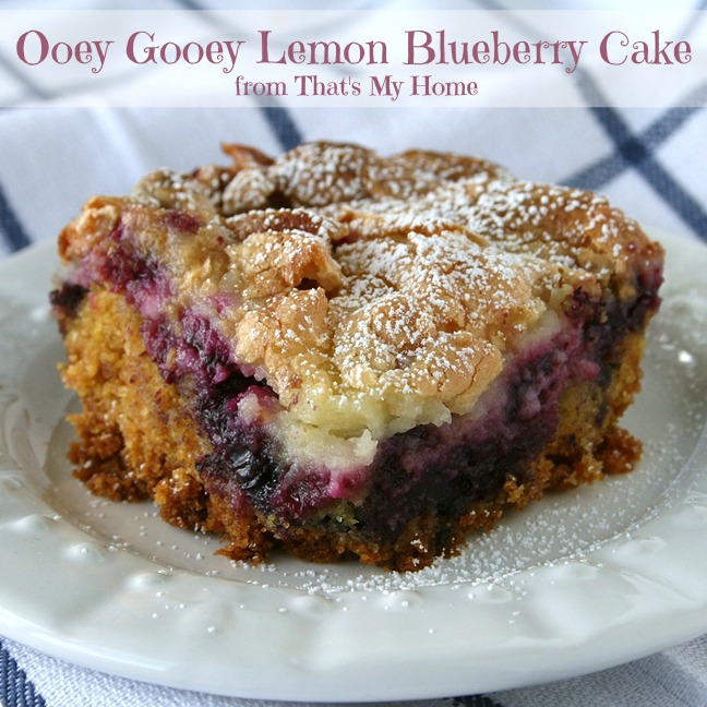 lemon blueberry ooey gooey butter cake