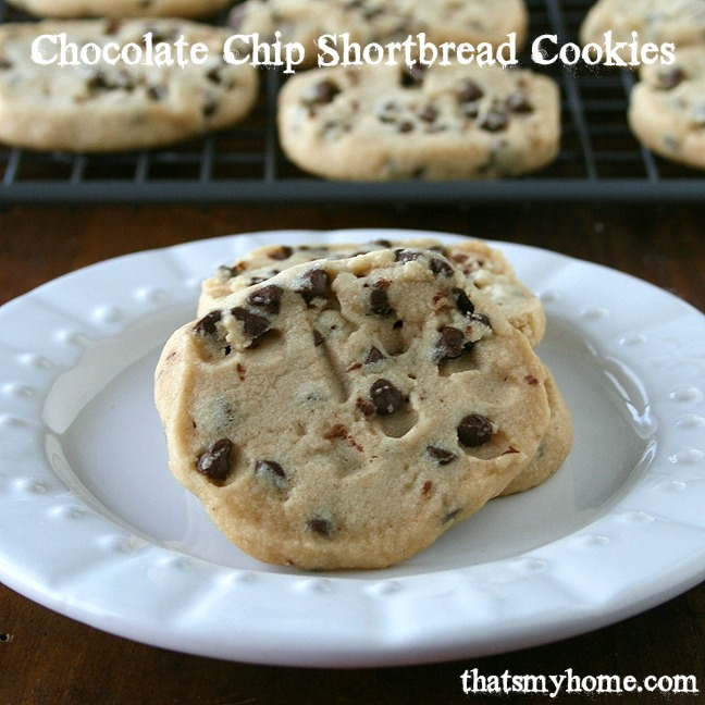 Chocolate Chip Shortbread Cookies from Recipes Food and Cooking