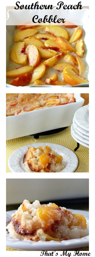 Peach Cobbler from That's My Home