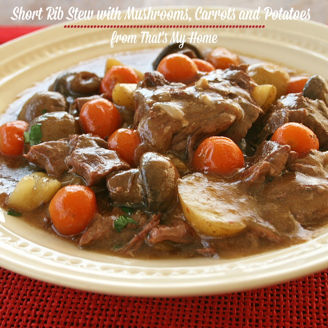Beat the Heat Short Rib Stew - Recipes Food and Cooking