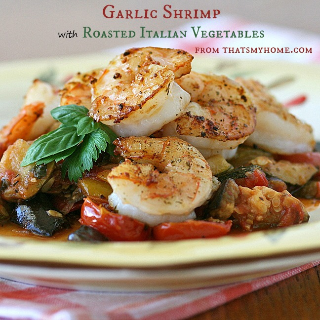 Shrimp with Roasted Vegetables