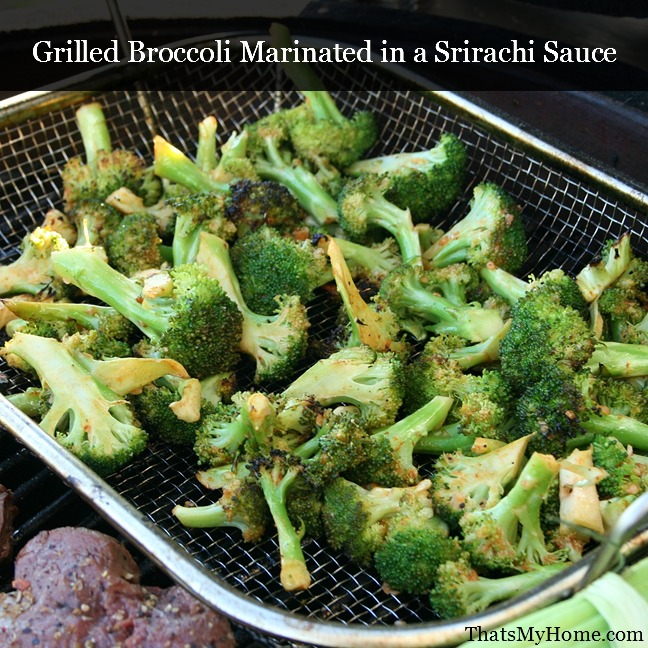 Grilled Broccoli Marinated with Srirachi Sauce from Recipes Food and Cooking