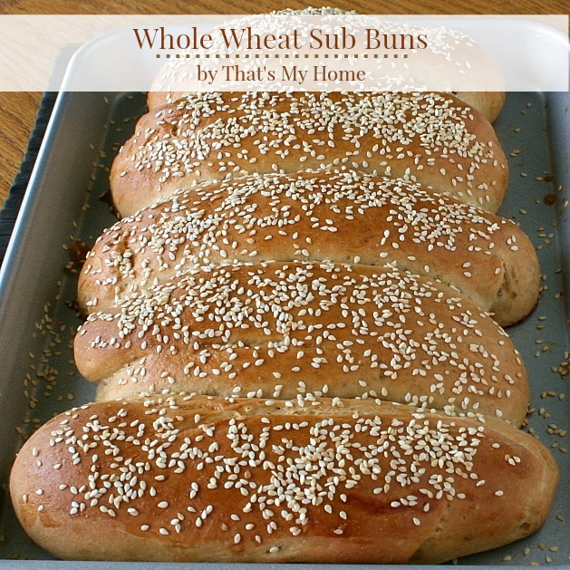 Whole Wheat Sub Buns by That's My Home