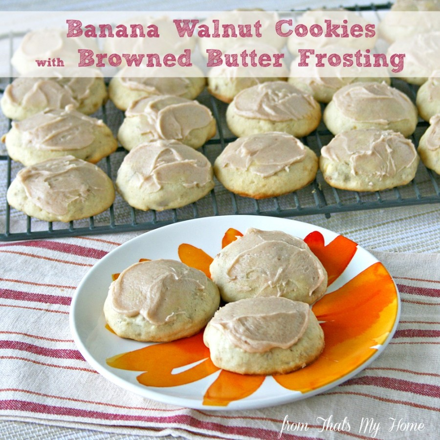 Banana Walnut Cookies from That's My Home