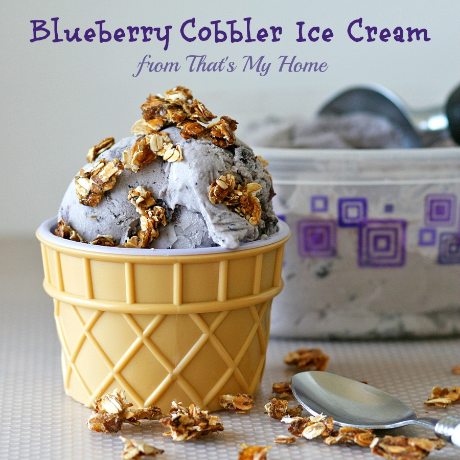 Blueberry Cobbler Ice Cream from Recipes Food and Cooking