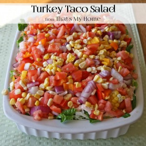 Turkey Taco Salad from That's My Home