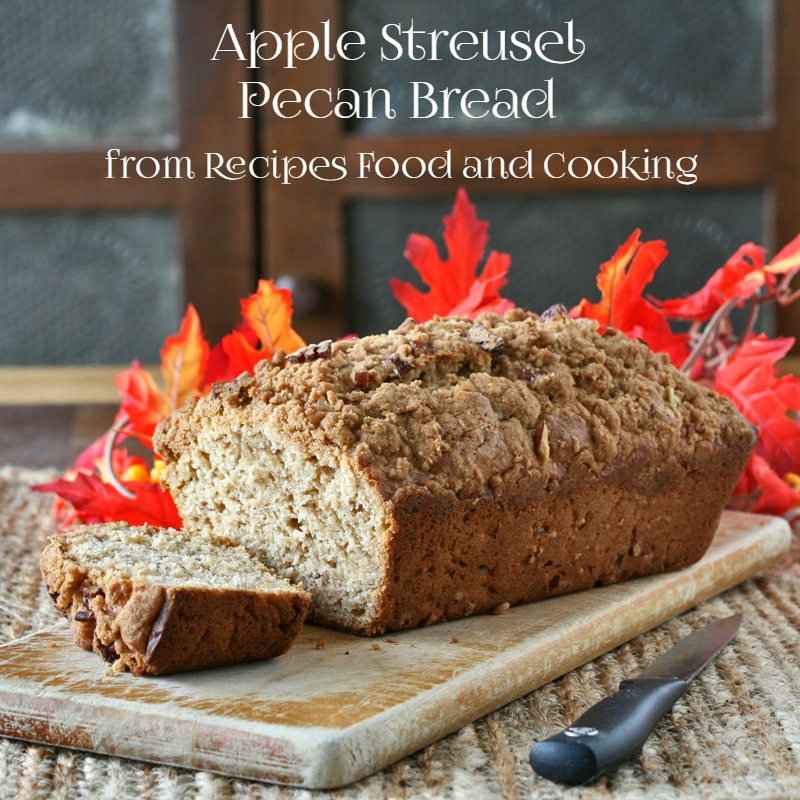 Apple Streusel Pecan Bread