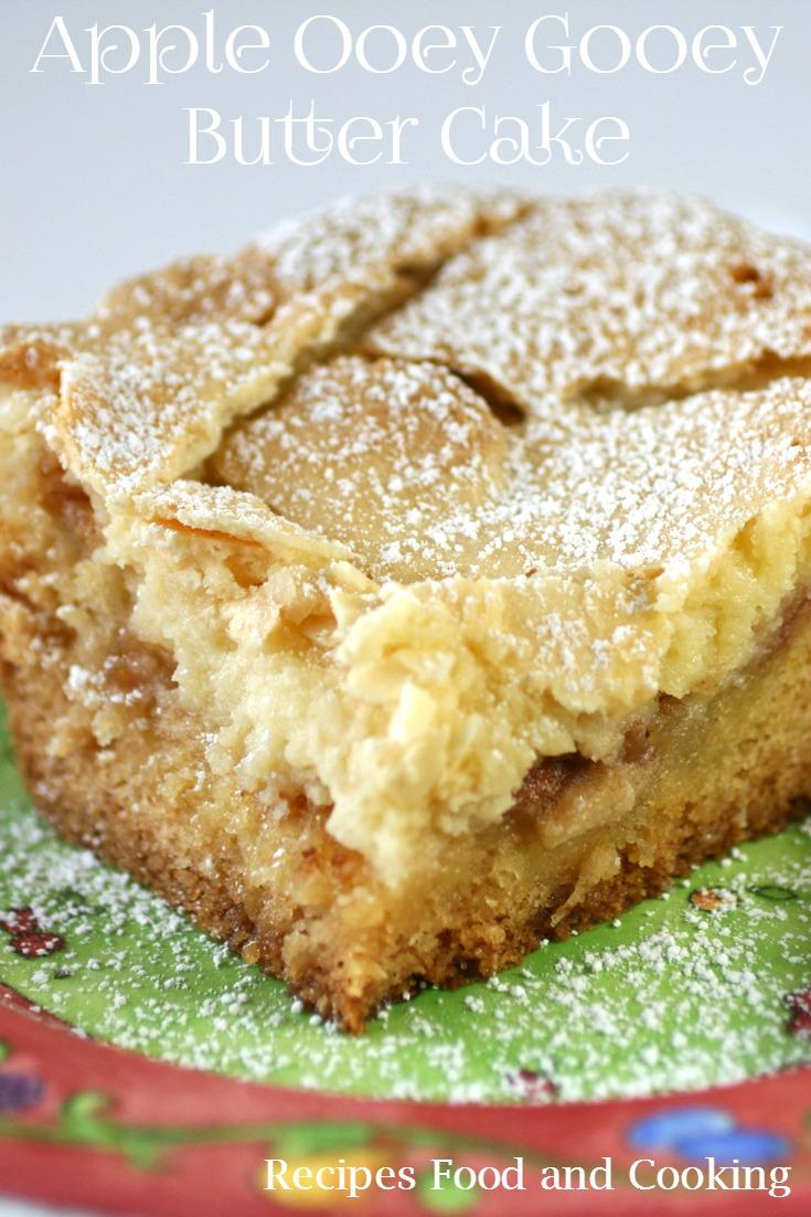 Spiced Apple Ooey Gooey Butter Cake