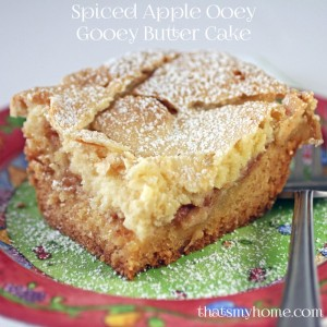 Spiced Apple Ooey Gooey Butter Cake - Recipes Food and Cooking