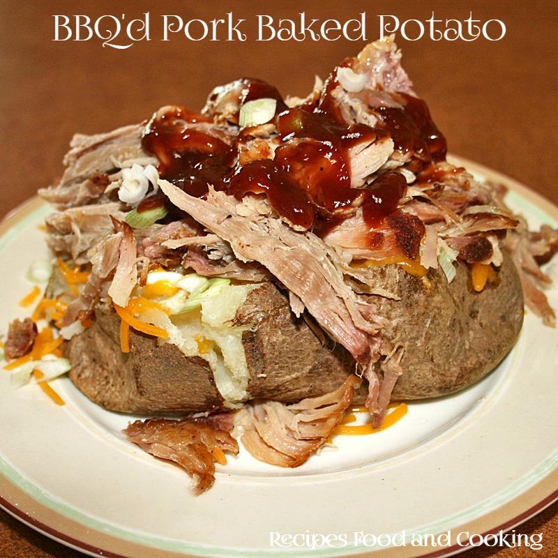 BBQ Pork Baked Potato