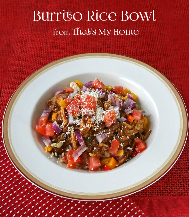 Burrito Bowl with Shredded Chicken