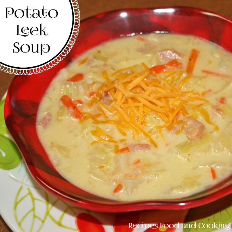 Potato Leek Soup with Ham
