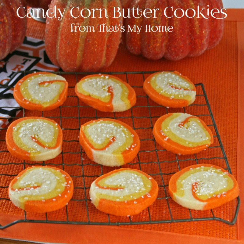 Candy Corn Butter Cookies from That's My Home