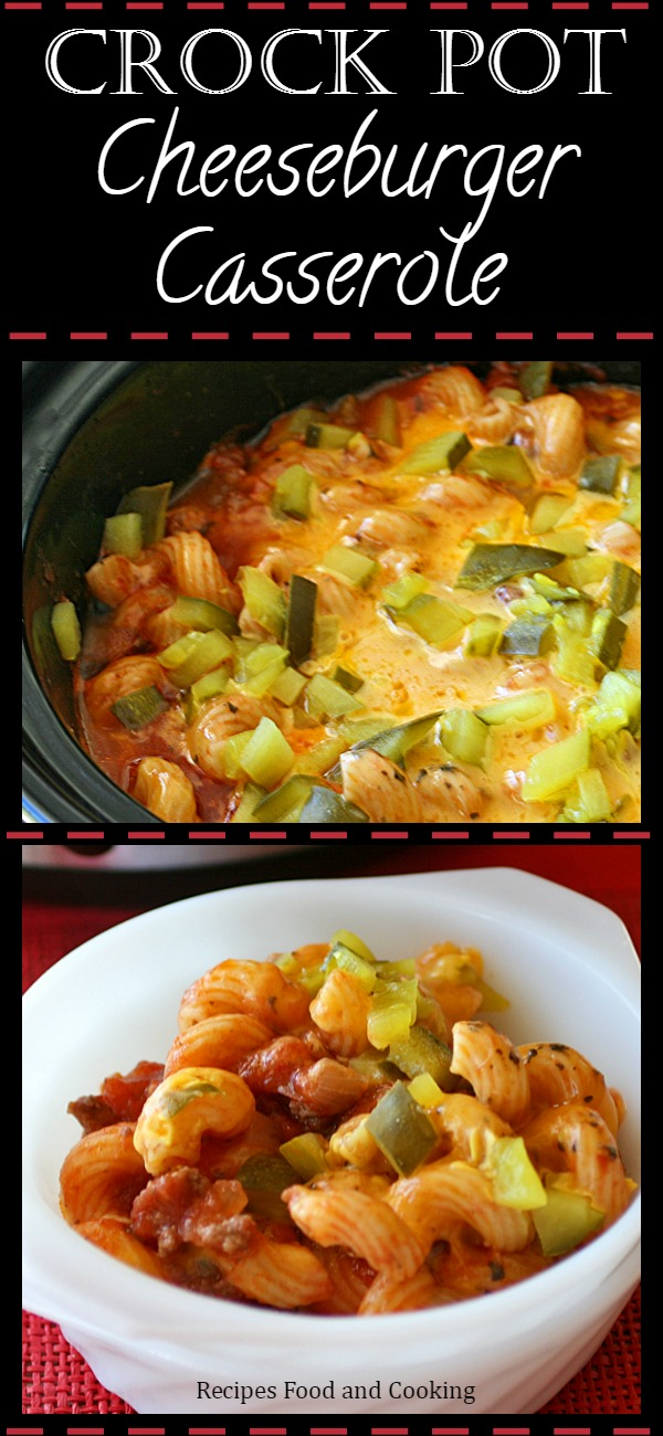 Crock Pot Cheeseburger Casserole