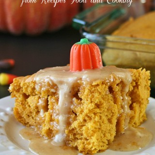 3 Ingredient Pumpkin Cake with Apple Cider Glaze