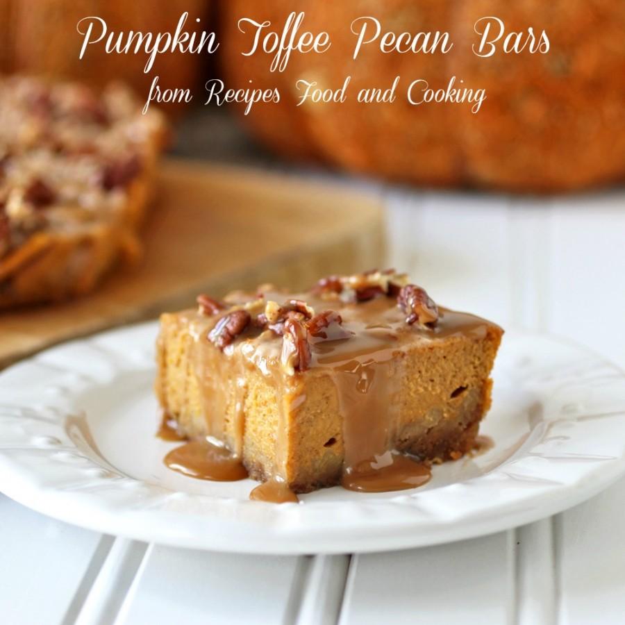 Pumpkin Toffee Pecan Bars