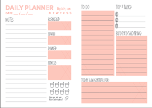 printable daily organizer selo l ink co