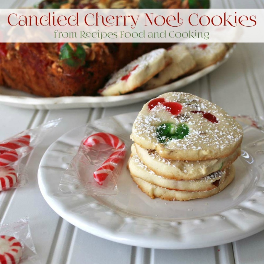 Candied Cherry Noel Cookies