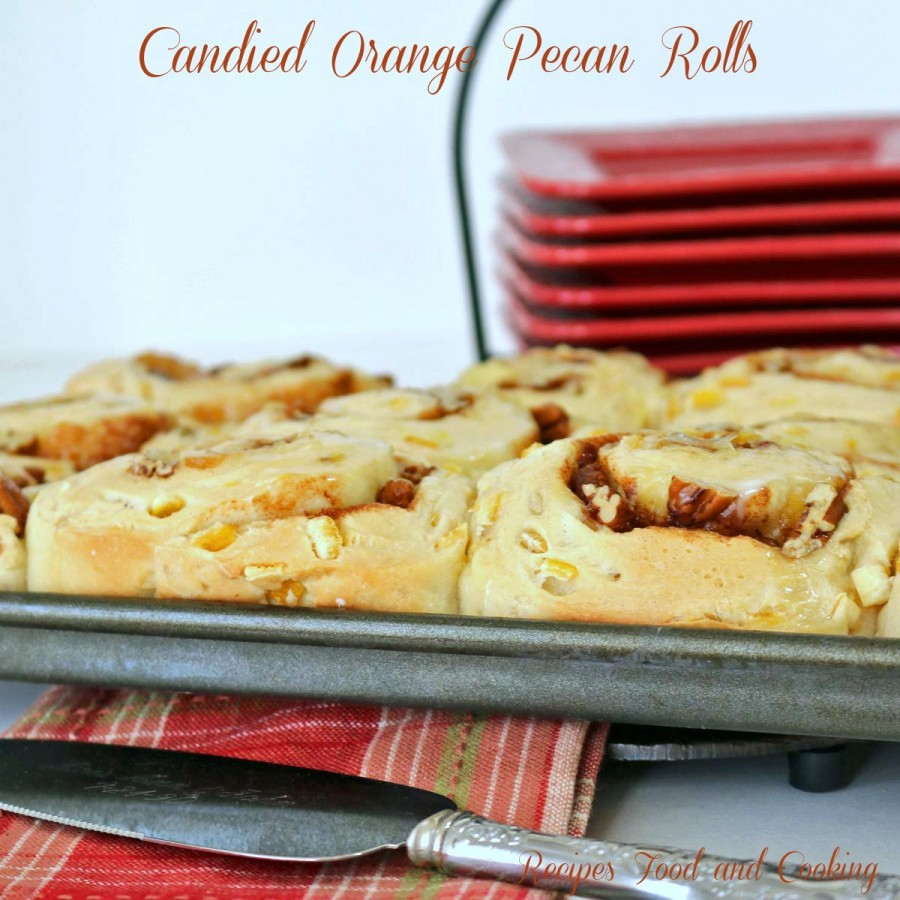 Candied Orange Pecan Rolls
