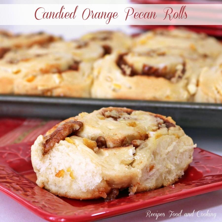 Candied Orange Pecan Rolls
