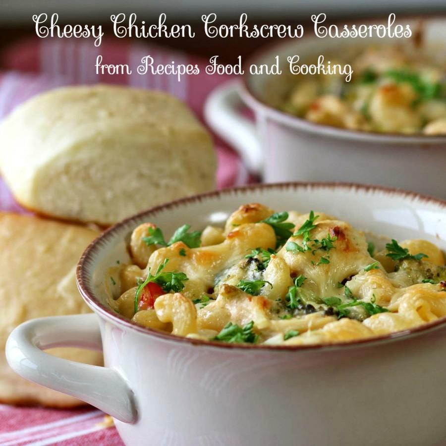 Cheesy Chicken Corkscrew Casserole