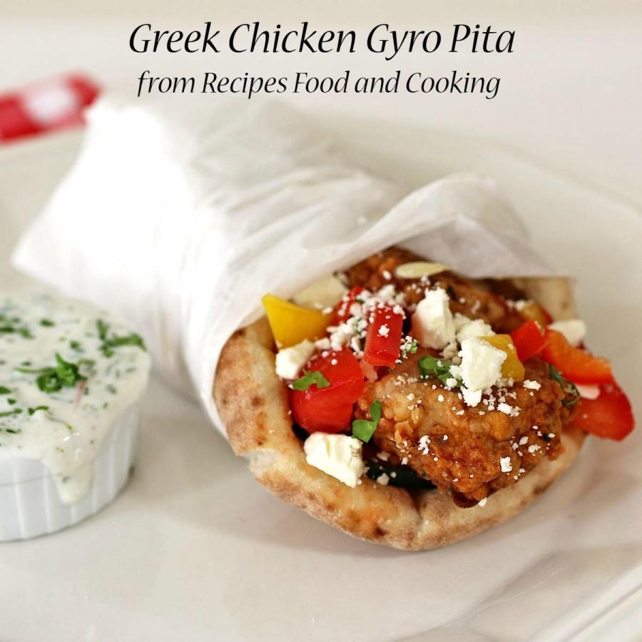 Greek Chicken Gyro Pita