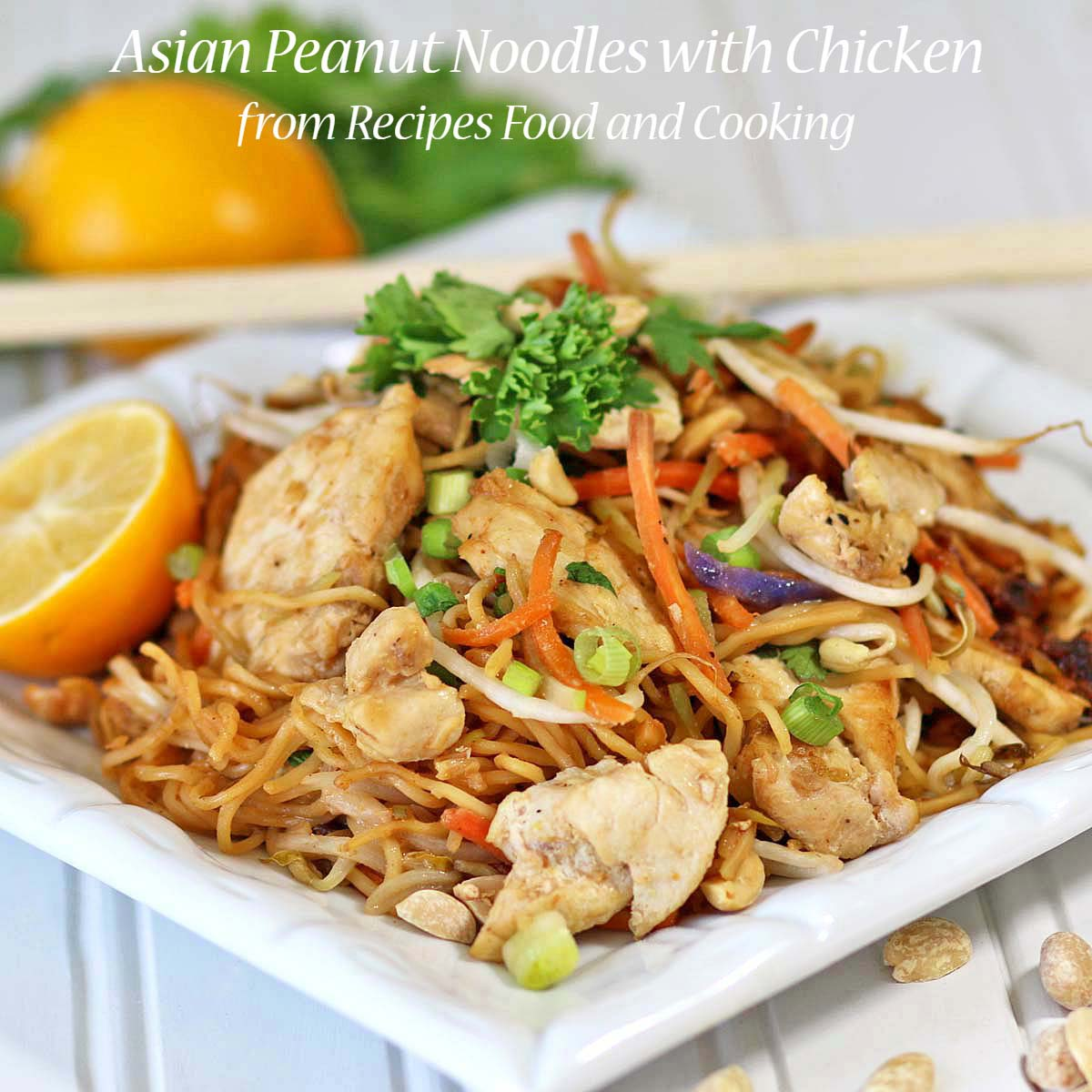 Asian peanut noodles with chicken weekdaysupper recipes food and asian peanut chicken with noodles forumfinder Gallery
